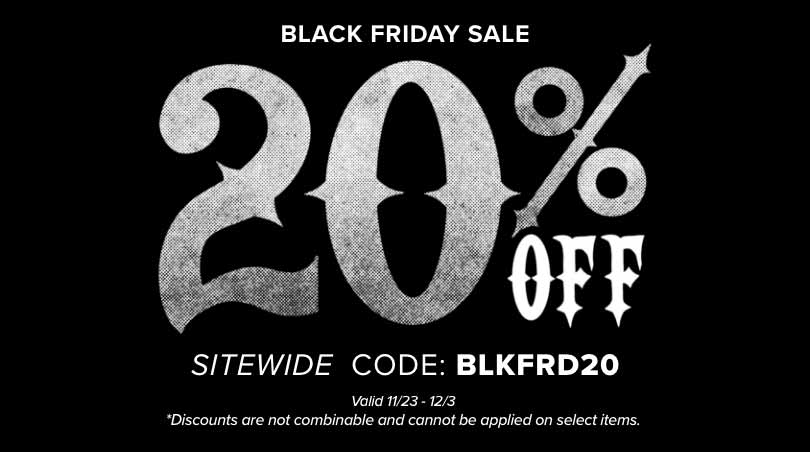 Black Friday Sale Save 20 Percent Sitewide