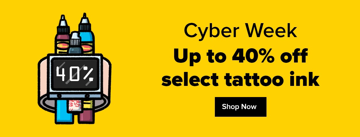 save up to 50 percent on tattoo ink